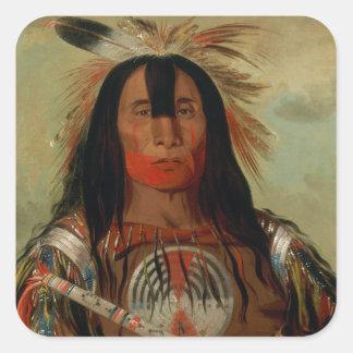 Buffalo Bull's Back Fat Head Chief Blood Tribe Square Sticker