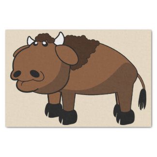 buffalo cartoon tissue paper