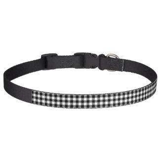 Buffalo Check Black Plaid Dog Collar