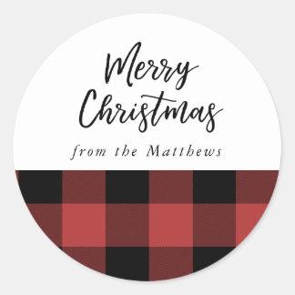 Buffalo Check, Christmas Sticker