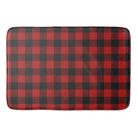 Buffalo Checked Red and Black Gingham Pattern Bath