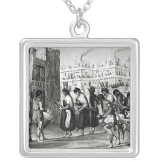 Buffalo Dance at Pueblo de Zuni Silver Plated Necklace