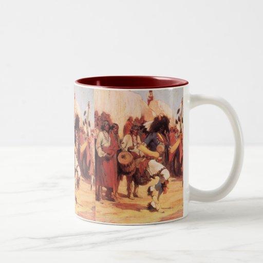 Buffalo Dance by Gerald Cassidy, Vintage Dancers Coffee Mugs