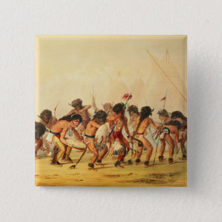 Buffalo Dance, c.1832 15 Cm Square Badge