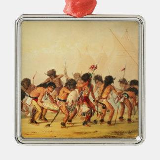 Buffalo Dance, c.1832 Silver-Colored Square Decoration