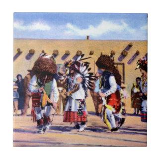 Buffalo Dance of the Pueblo Indians Tile
