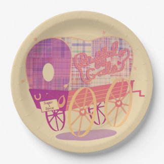 Buffalo Gals Wagon paper plate