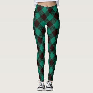 Buffalo Green and Black Plaid Pattern  Christmas Leggings
