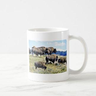Buffalo Herd - Yellowstone National Park Coffee Mug