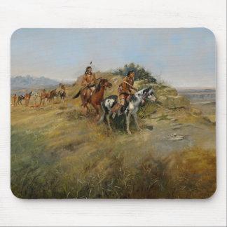 Buffalo Hunt, 1891 (oil on canvas) Mouse Mat