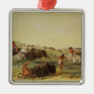 Buffalo Hunt Christmas Ornament