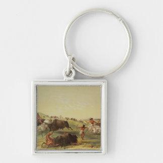 Buffalo Hunt Key Ring