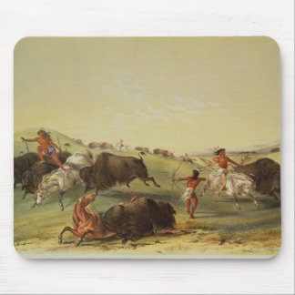 Buffalo Hunt Mouse Mat