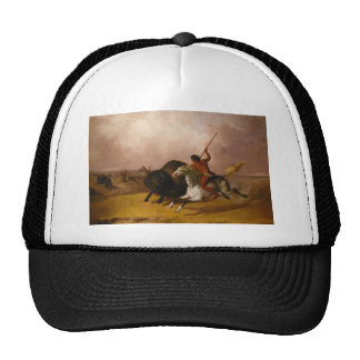 Buffalo Hunt on the Southwestern Plains - 1845 Hats