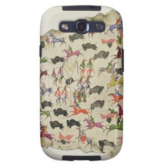 Buffalo hunt (pigment on elk-skin) galaxy s3 cover