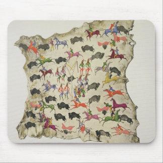 Buffalo hunt (pigment on elk-skin) mouse mat