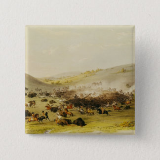Buffalo Hunt, Surround, c.1832 15 Cm Square Badge