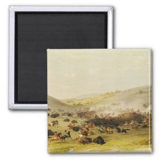Buffalo Hunt, Surround, c.1832 Magnet