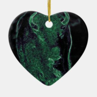 Buffalo (Light Buffalo) Christmas Ornament