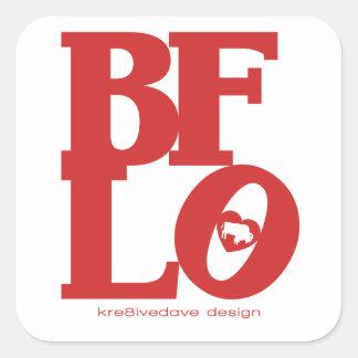 BUFFALO LOVE (red) Square Sticker