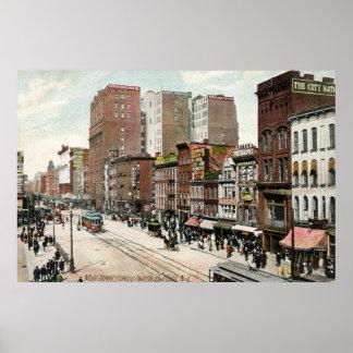 Buffalo, Main St. Looking North, 1907 Poster