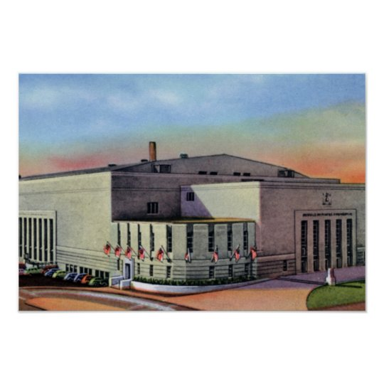 Buffalo New York Auditorium Poster