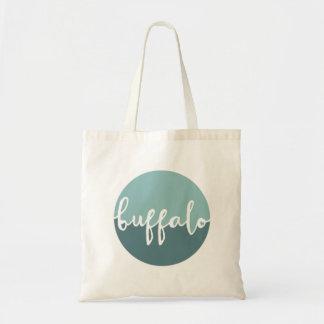 Buffalo, New York | Blue Circle Ombre Tote Bag