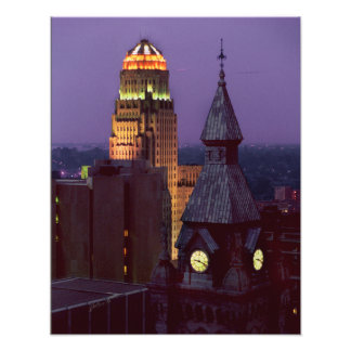Buffalo, New York County and City Hall Buildings Photo Print