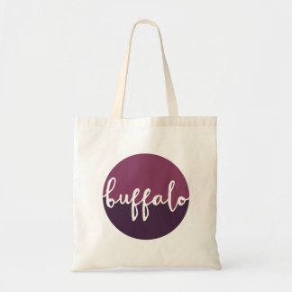 Buffalo, New York | Purple Circle Ombre Tote Bag