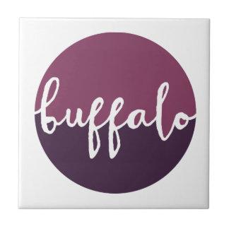 Buffalo, New York | Purple Ombre Circle Tile