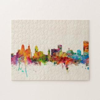 Buffalo New York Skyline Cityscape Puzzle