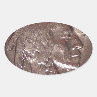 Buffalo Nickel Oval Sticker