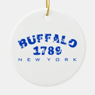 Buffalo, NY - 1789 Round Ceramic Decoration