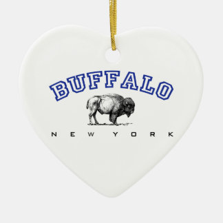 Buffalo NY Ceramic Heart Decoration