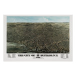 Buffalo, NY Panoramic Map - 1880 Poster
