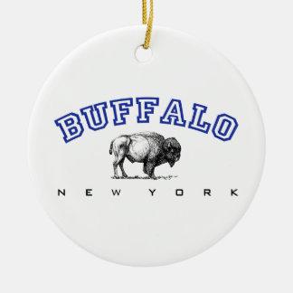 Buffalo NY Round Ceramic Decoration