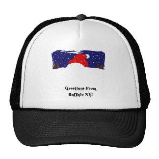 Buffalo NY Snowman Trucker Hats