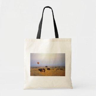Buffalo on the plain tote bag
