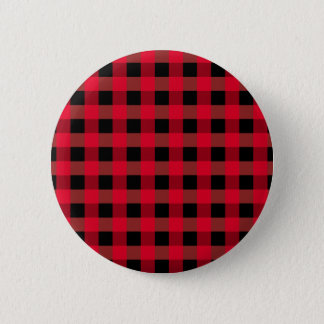 Buffalo plaid 6 cm round badge