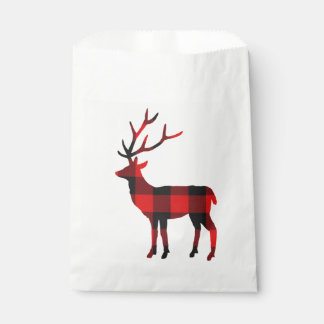 Buffalo Plaid Deer | Favor Bags