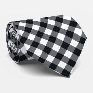 Buffalo Plaid / gingham pattern black Tie