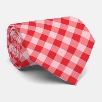 Buffalo Plaid / gingham pattern red Tie