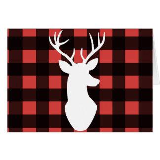 Buffalo plaid holiday cards - blank inside