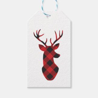 Buffalo plaid holiday gift tags