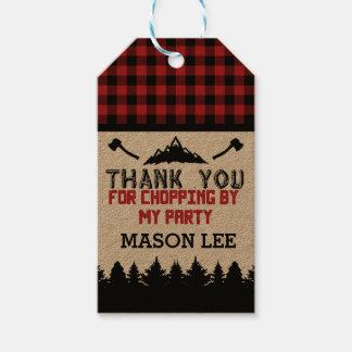 Buffalo Plaid Lumberjack Thank You Favor Tag