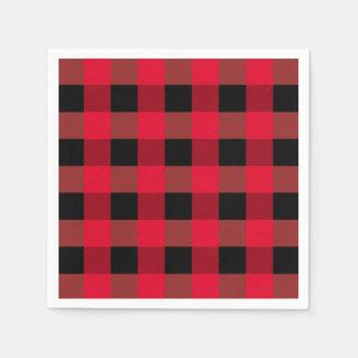 Buffalo plaid napkins paper serviettes