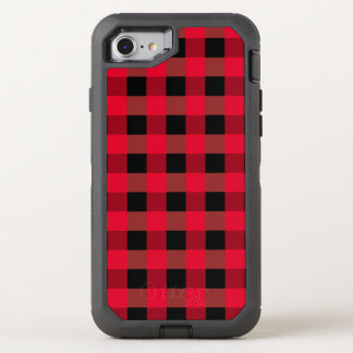 Buffalo plaid OtterBox defender iPhone 8/7 case
