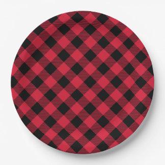 Buffalo Plaid Paper Plate