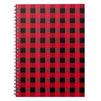 Buffalo plaid spiral notebook