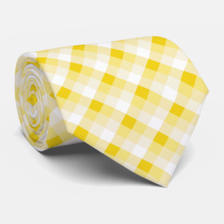 Buffalo Plaid /tartan pattern yellow Tie